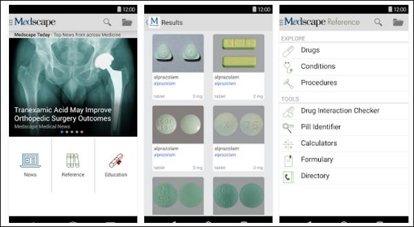A Medscape alkalmazás több területen is kiemelkedően teljesít.